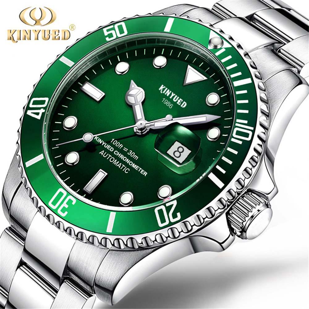 Marque KINYUED Homme Montre Mécanique Automatique Rôle Date Mode luxe Submariner Horloge Mâle Reloj Hombre Relogio Masculino