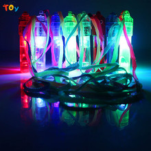 Triver Colorful flash luminous LED light up Glow whistle ktv party bar outdoor activity rescue concert noise maker kids toy Gift