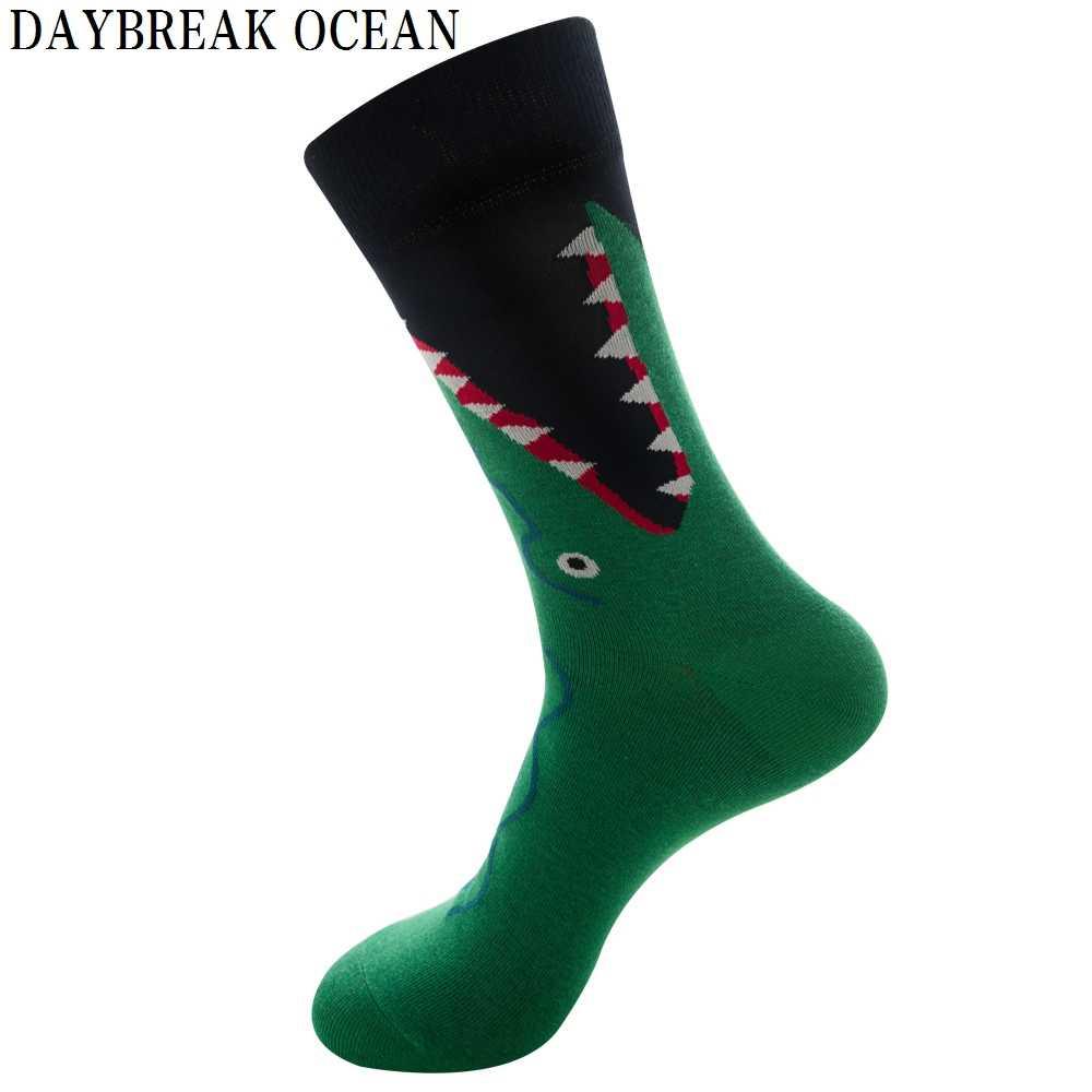 Unisex Yüksek Kaliteli Yeni Moda erkek çorabı Kadın Yenilik Komik Hayvan Meyve Penye pamuk çorap erkek Büyük Boy Mürettebat Çorap