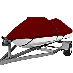 210D PU coated Oxford polyester jet ski cover,PWC Size:L 115-135 Boat cover,PWC suit 292-343cm length,2-3 seats