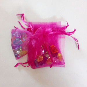 Image 3 - 1000pcs Rose Red Gift Bags For Jewelry Bags And Packaging Organza Bag Drawstring Bag Wedding/Woman Storage Display Pouches
