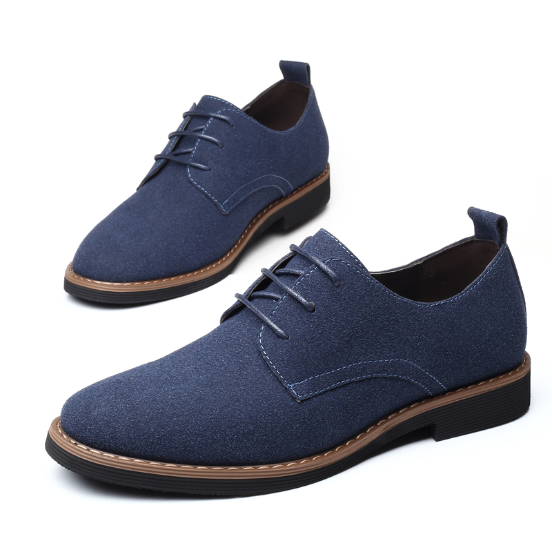 Men Formal Shoes Pointed Toe Flock   Leather   Oxford Shoes For Men Dress Shoes Business Man Casual Shoes