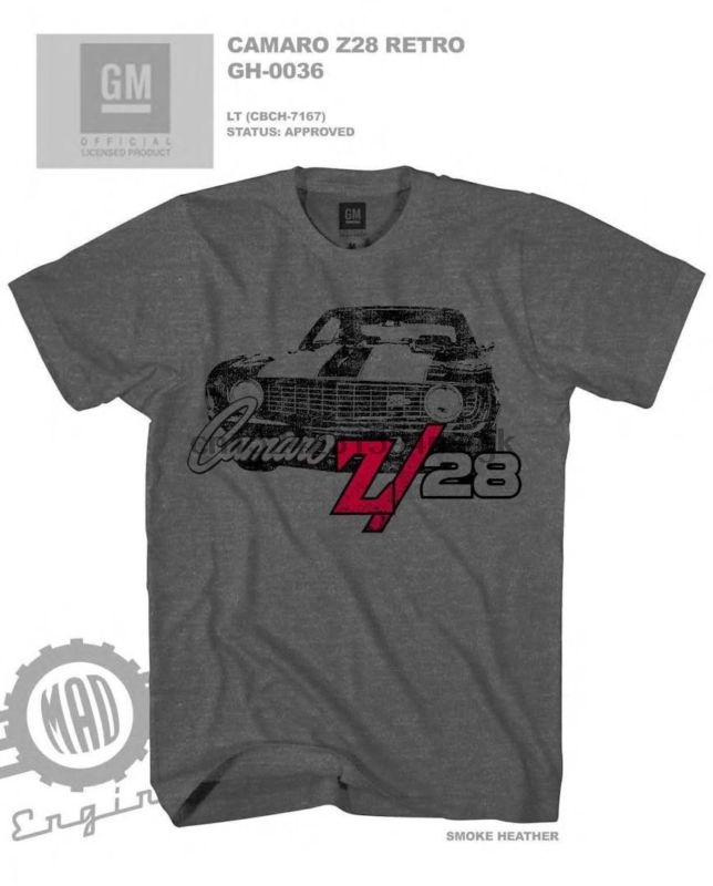 Chevrolet Camaro T-Shirt-American Muscle Official USA Licensed v8 z28