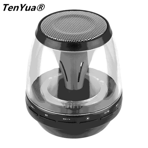 TenYua Mini Bluetooth Speakers Wireless with LED Lights 4 Mode Lighting Handfree Stereo Super Bass Loudspeaker Support TF Card Karachi