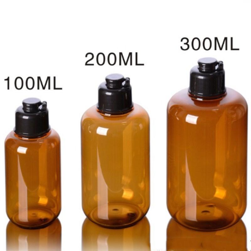 Nachfüllbare Flaschen 1 Pc 100/200/300 Ml Container Acryl Emulsion Pumpe Schwarz Flip Nachfüllbare Flaschen Raum Hautpflege Shampoo Lotion Kosmetik Leere Schönheit & Gesundheit