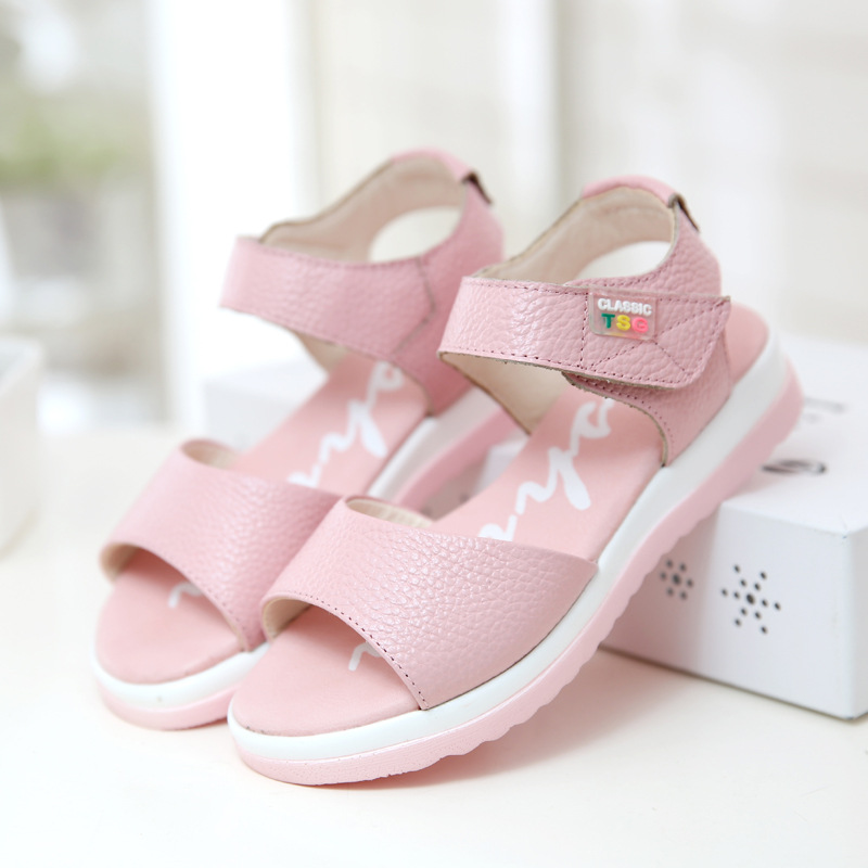 d7c664e1b2369 Detail Feedback Questions about 2016 summer new arrivals children sandals  girls genuine leather sandals kids comfort sandal girl high quality casual  sandals ...
