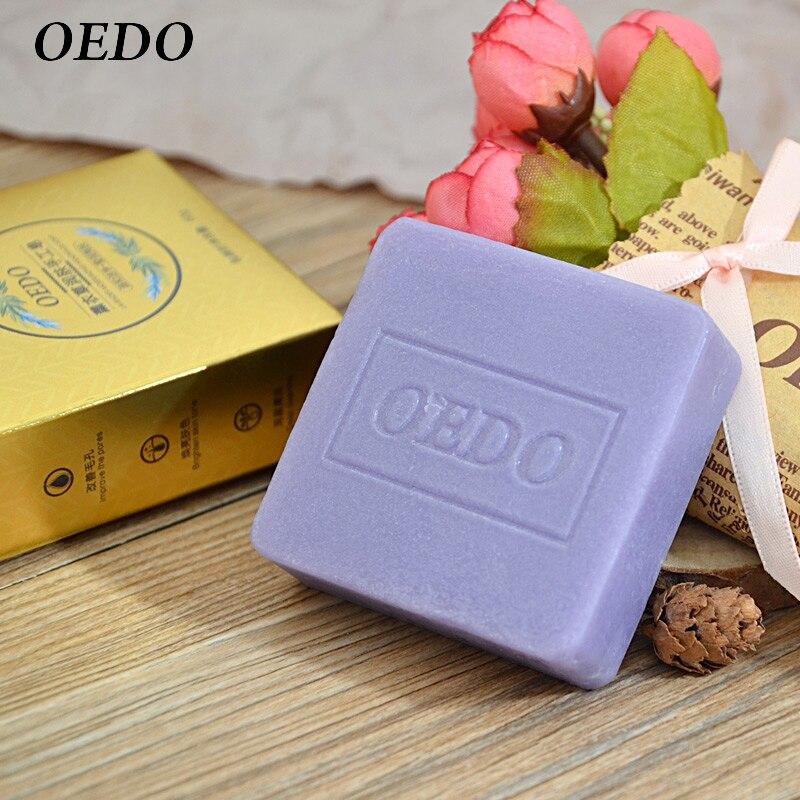 1PC Lavender Handmade Soap Moisturizing Deep Cleansing Emolliency Nursing Skin Face Care Enhance Pore Beauty Health Bathing Soap