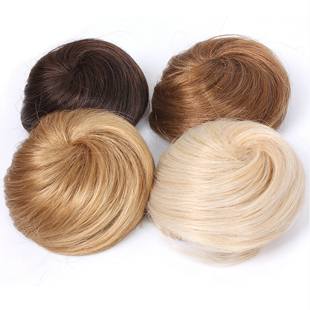 Soowee 8 Colors Synthetic High Temperature Fiber Curly Hair Chignon Clip In Hair Bun Donut Roller