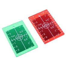 Laser Target Card Plate inch/cm for Green and Red Laser Level Target Plate 77UC(China)