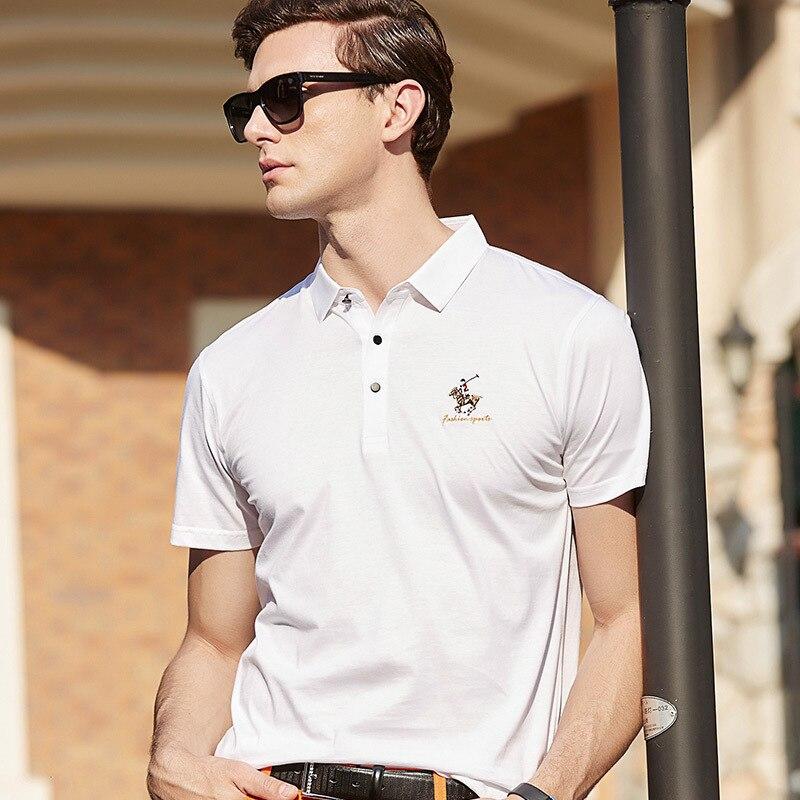 Polo hombre Tops y camisetas de alta calidad camisetas de los hombres camisa de Polo de verano rayas marca Polo de manga corta hombres de la camisa 2018 619725