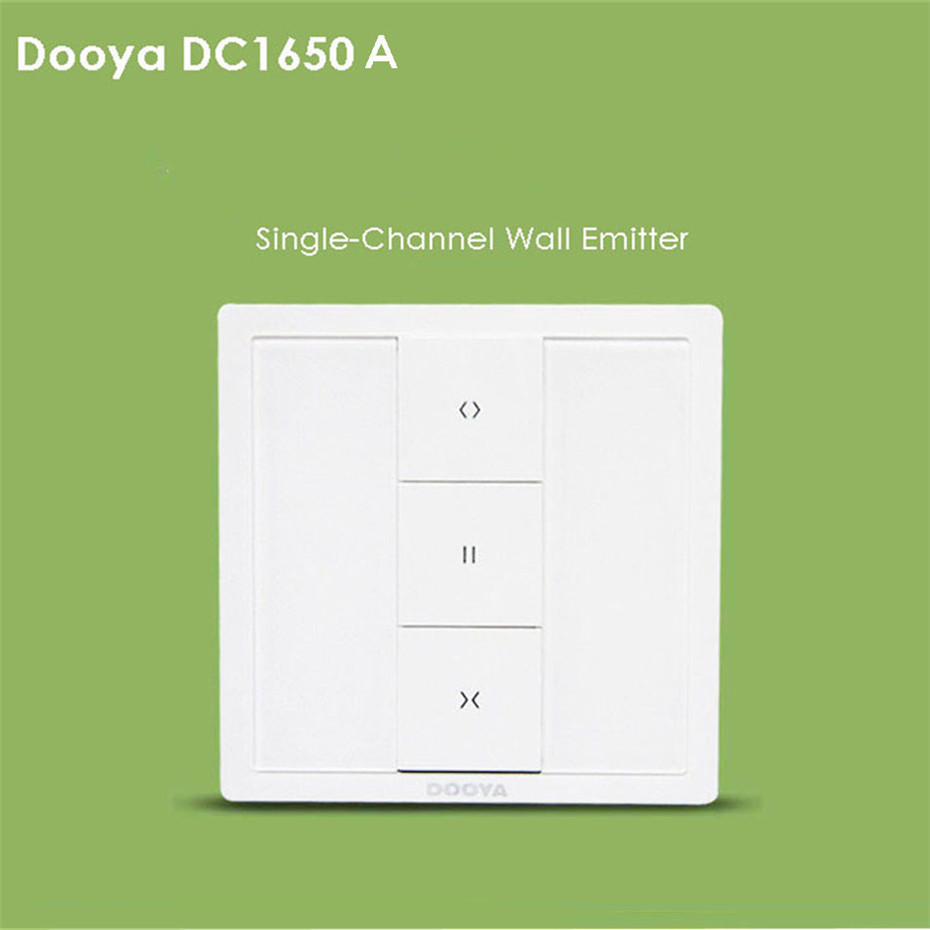 Dooya DC1650A Single-Channel/DC1651A Double Channel Wall Emitter,for Dooya DT360/DT52/KT82/KT320 Motor,Automatic Curtain Control