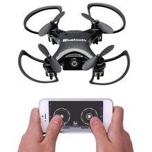 Mini bluetooth rc drone drone control remoto toys dron quadcopter quadrocopter 6 axis gyro rtf helicóptero de regalo para niños k700b