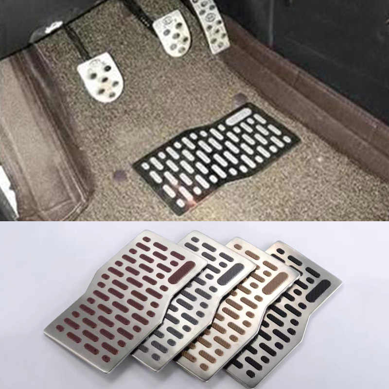 Voiture autocollants tapis de sol tapis Auto aluminium Pad plaque pédale repose-pieds tapis pour Lexus GT200H IS300 IS250 IS200 ES200 ES250 ES300H