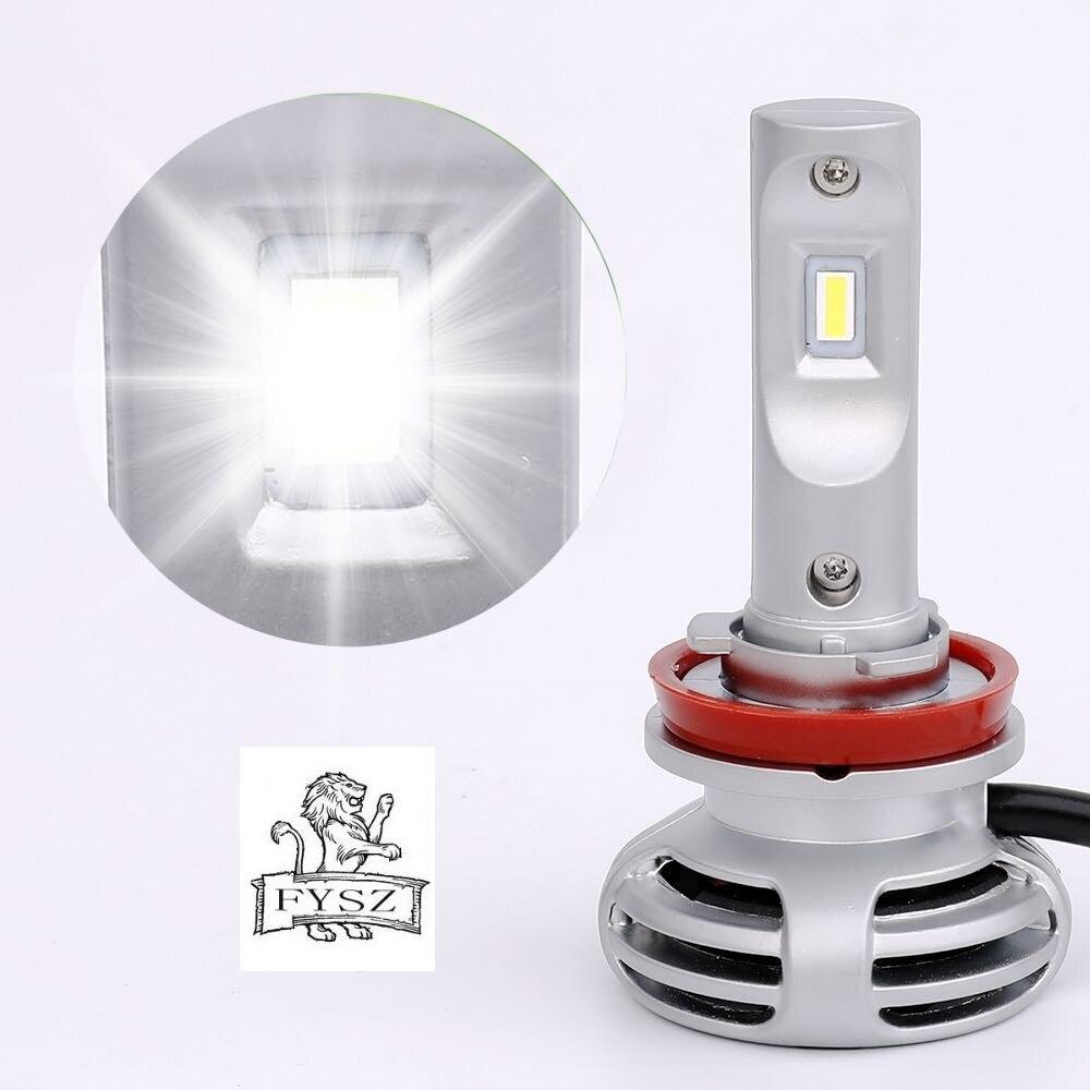 Image 2 - 2Pcs mini H11 Auto Headlight H7 LED H4 H16 H13 H1 H3 H27 H8 9006 9005 72W 8000LM 6500K 12V 24V Car Headlamp COB Fog Light Bulb-in Car Headlight Bulbs(LED) from Automobiles & Motorcycles