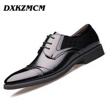 DXKZMCM Split En Cuir Hommes Oxford Chaussures, dentelle-Up Casual Hommes D'affaires Chaussures, marque Hommes Chaussures De Mariage, hommes Robe Chaussures