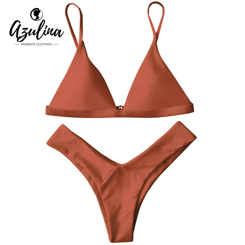 02beb17d675901 AZULINA Padded Bikini Thong Bikini Swimwear Women Sexy Bathing Suit  Swimsuits Beachwear Brazilian Bikini Biquini Maillot