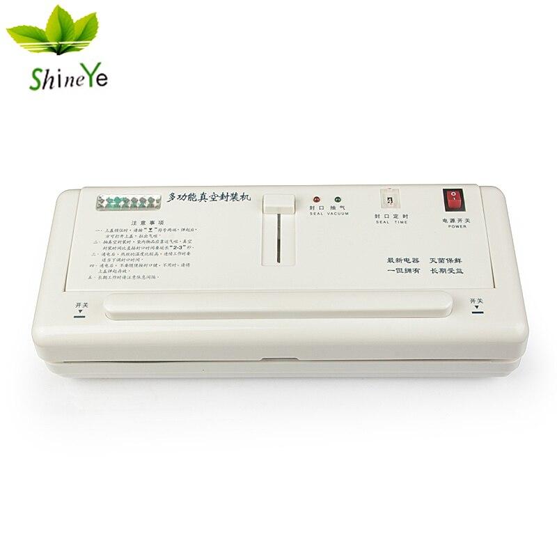 ShineYe DZ-2SD Alimentare Delle Famiglie Sigillatore di Vuoto Macchina per L'imballaggio di Mantenere Fresco Cibo Confezionatrice Sottovuoto, Tra Cui 10 pcs Vavuum borse