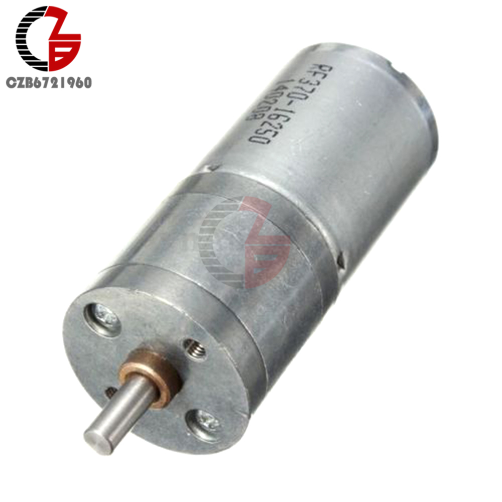 Motor Speed Reduction Gear Motor Electric 12V DC 60RPM Powerful Torque 25mm dc 12v 60rpm 2 terminals connectortorque speed control geared motor
