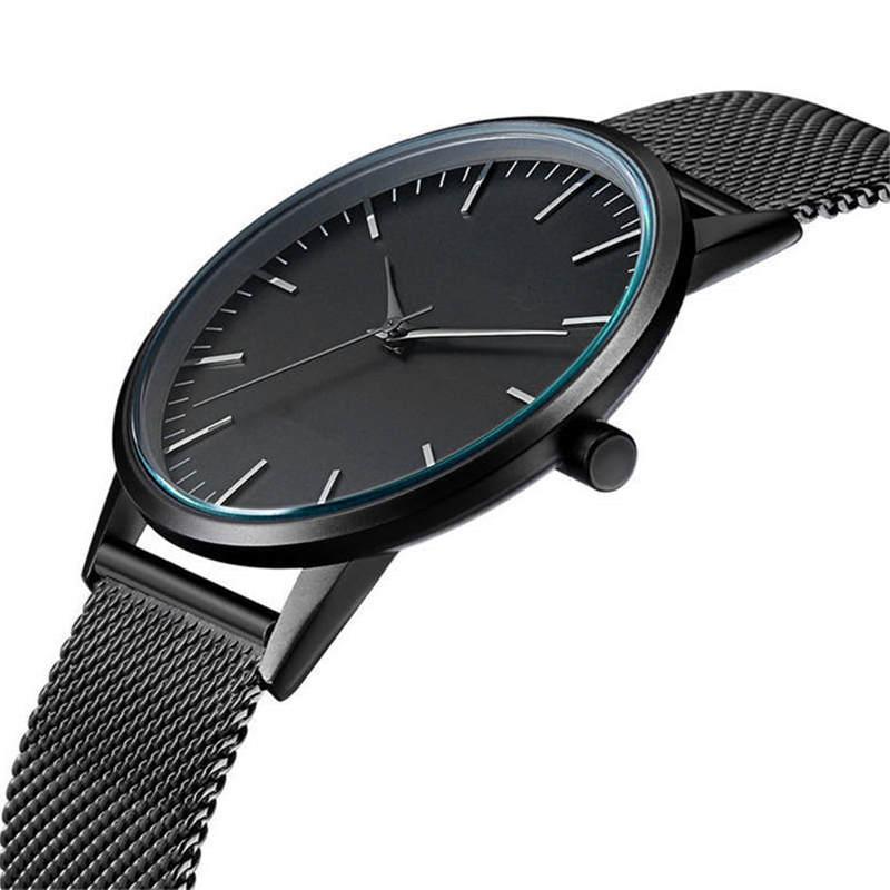 Ctpor Ultra thin Fashion Male Wristwatch Stainless Steel Watchband Business Watches Waterproof Scratch-resistant Men Watch Clock