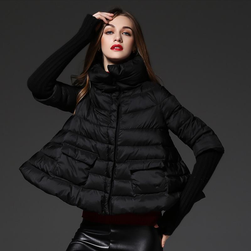 Winter Cloak Maternity Down Jacket Women Short Black Coat Pregnancy Outerwear Pregnant Clothes High Fashion