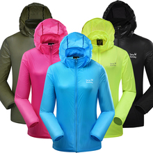 FreeShipping-2016Terwsunsky Outdoor Sport Women Spring Summer Ultraviolet Ray Windproof Dry Quickly Hooded Soft Thin Coat TP6602