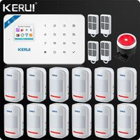 Kerui W18 Wireless Wifi GSM IOS/Android APP Control LCD GSM SMS Burglar Alarm System For Home Security PIR Sensor Wired Siren