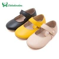 Criança meninas vestir sapatos preto amarelo bege infantil menina sapatos outono meninas bonitos sapatos de couro da princesa festa de dança