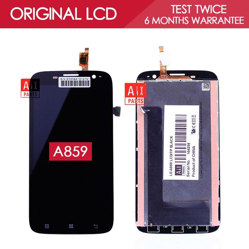 100 Tested Original IPS 1280x720 Display For Lenovo A859 LCD With Touch Screen Digitizer Assembly Replacement