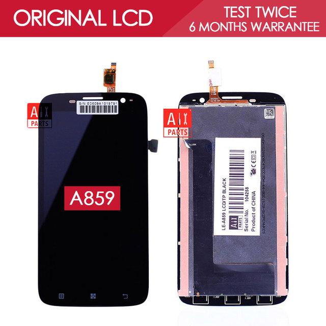 100% probado original ips 1280x720 pantalla para lenovo a859 lcd con pantalla táctil digitalizador asamblea piezas de repuesto