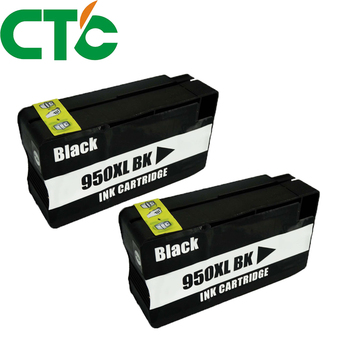 2PCS Compatible Black Ink Cartridge Replacement for H 950 951 xl for H Officejet Pro 8600 8620 8630 276dw 8640 8660 8615 8625 image
