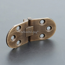 DHL Shipping 100PCS European Antique Pure Brass Butler Tray Hinges Round Edge Folding Flaps with Screws