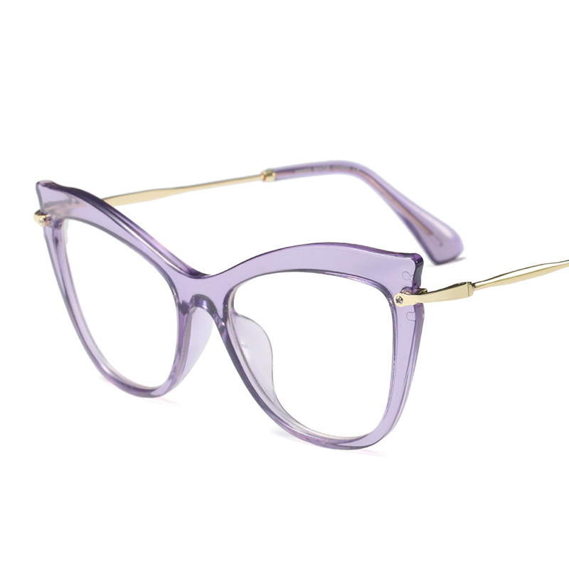 YDO Mode Cat Eye Glasses Wanita Transparan Batal Lens Kacamata Merek - Aksesori pakaian - Foto 5