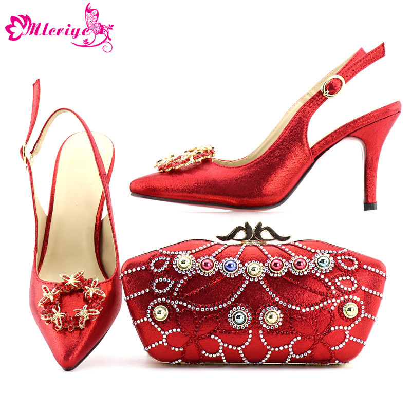 Designer Shoes Women Luxury 2018 Nigerian Women Wedding Shoes and Bag Decorated with Rhinestone Women Shoes and Bag Set In Italy kimberly meter van sex lies and designer shoes