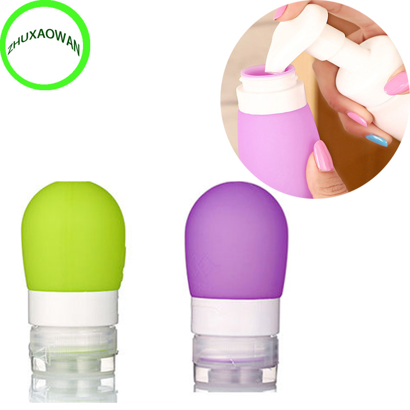 Bestp Portable Round Silicone Travel Bottles Cosmetics Shampoo Container Candy Color 3 Color S L