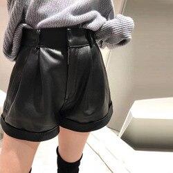 2019 Neue Mode Echte Schafe Leder Shorts G11