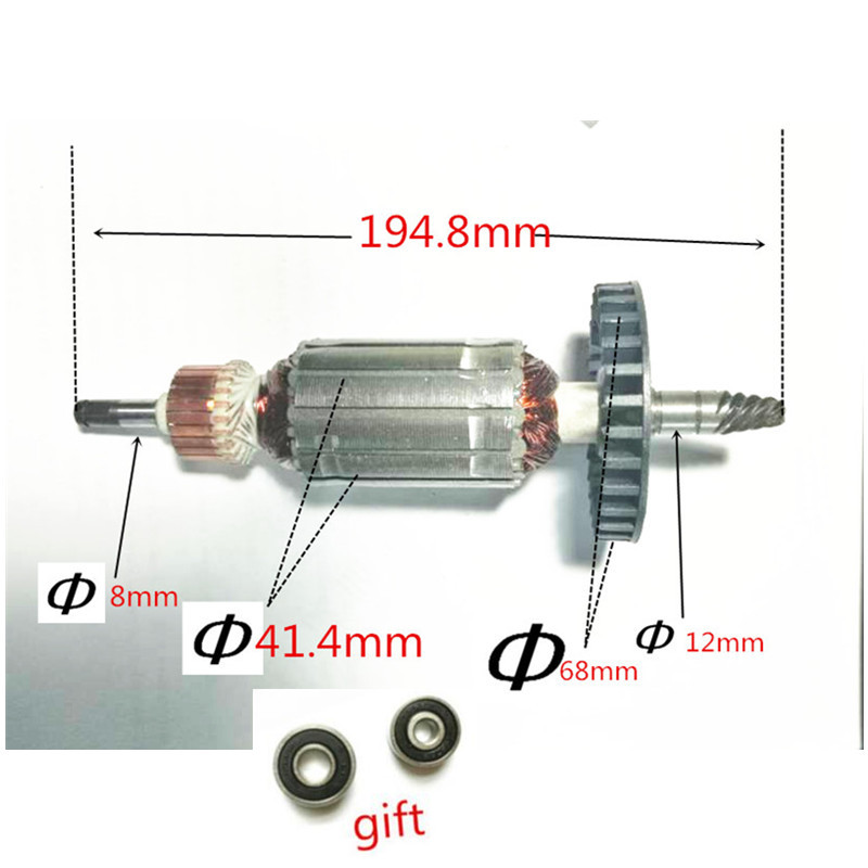 AC220-240V Armature Rotor Motor Engine for Replacement 6 Teeth MAKITA 9227CB 9237CB 9227C Armature ac 220 240v armature motor rotor replacement for bosch gbm500re gsb450re psb400re gsb13re gbm400re armature parts engine