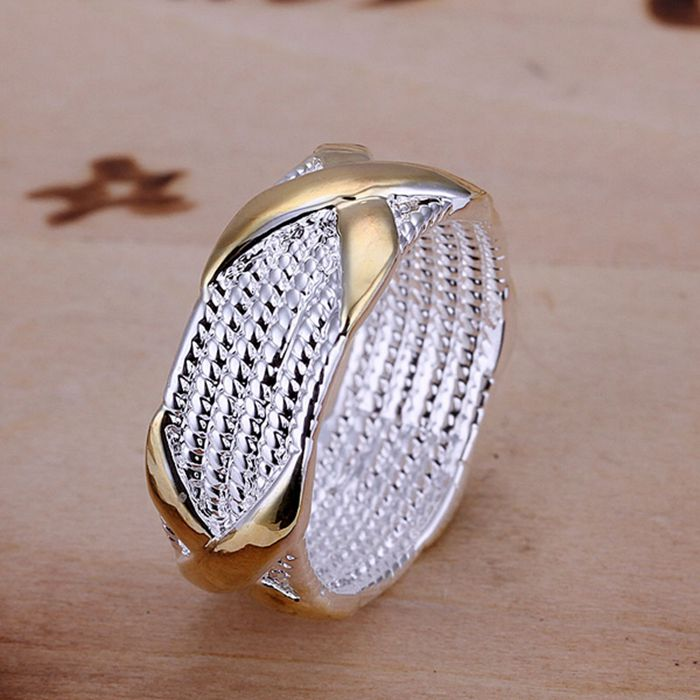 925 jewelry silver plated Ring Fine Fashion Color Separation X Silver Jewelry Ring Women&Men Gift Finger Rings SMTR013