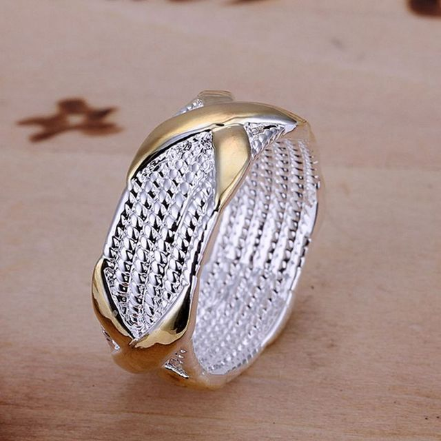 925 jewelry silver plated Ring Fine Fashion Color Separation X Silver Jewelry Ri