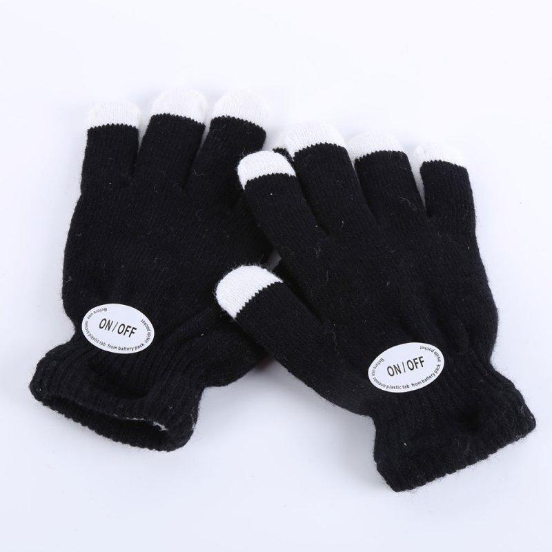 Gants Femme Sexy Kids Fingertip Led Gloves Rainbow Flash Light Glow Stick Gloves Mittens Apparel Accessories