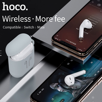 HOCO ES26 Mini Bluetooth Earphones Stereo Bass Wireless Bluetooth 5.0 Headset Earbuds Charging Box + Case for All Smart Phone