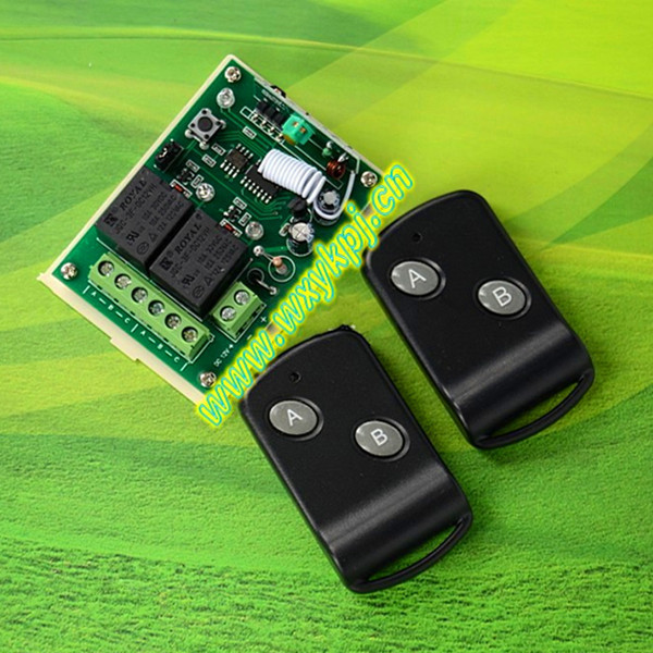 DC12V 2CH RF wireless power tool switch trigger switch 315mhz 433mhz remote switch 12v 10a latching relay