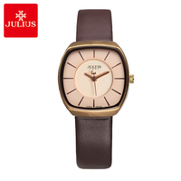 Julius Lady Women's Watch Japan Quartz Fashion Clock Simple Hours Real Leather Lovers Girl's Birthday Valentine Gift Box