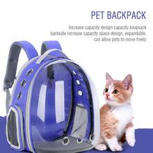 Grand espace Capsule bulle épaule Pet sac à dos tente Cage Portable Pet chat sac à dos pliable multi-fonction Pet chien transporteur sac(China)