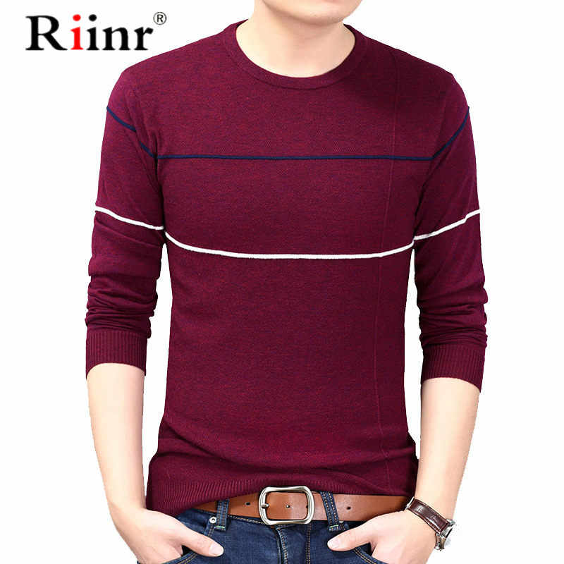 2019 New Fashion Brand Sweaters Mens Pullovers Woolen Slim Fit Jumpers Knit Striped Autumn Korean Style Casual Men Clothes