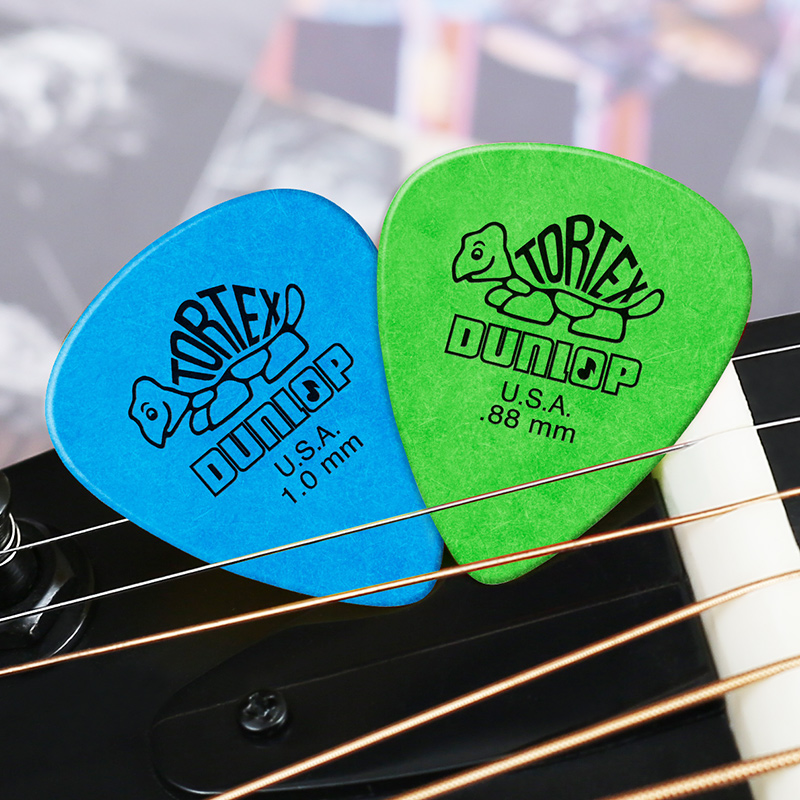Купить с кэшбэком 6pcs Dunlop Tortex Standard Guitar Picks Plectrum Mediator Bass Mediator Acoustic Electric Classic Guitar Parts Accessory Picks