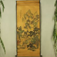 Exquisite Chinese Antique collection Imitation ancient Wang Jian send tea Picture