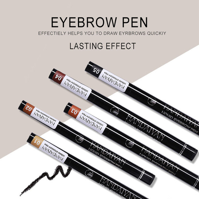 Waterproof Natural Eyebrow Pen Four-claw Eye Brow Tint Makeup 5 colors Eyebrow Pencil Brown Black Grey Brush Cosmetics Tatto 5