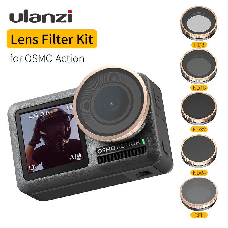 Ulanzi Osmo Action ND CPL Lens Filter for Dji Osmo Action ND8 ND16 ND32 CPL Camera lens Filters Set Kit Osmo Action Accessory