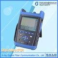 CETC OTDR AV6418 1310/1550nm 42/40dB Otdr OTDR De Fibra Óptica + medidor de Potencia + fuente de Luz