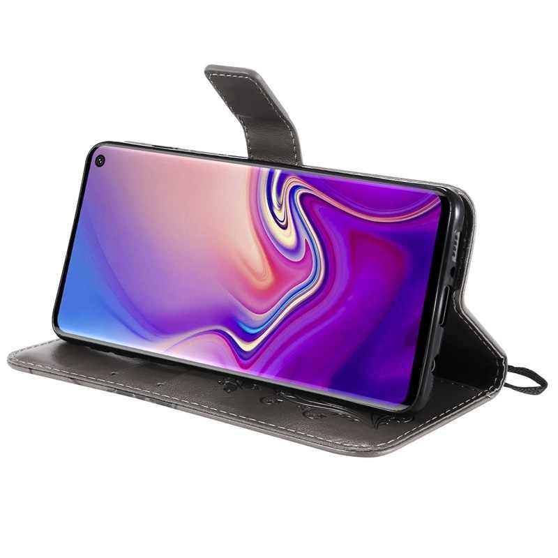 SsHhUu кожаный чехол для samsung Galaxy S10 S9 S8 S7 S6 S5 S4 S3 M10 M20 M30 NOTE8 9 3 Чехол бабочка чехол-портмоне с откидной крышкой чехол для телефона